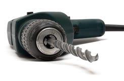 främre maskinsikt för drill Arkivbild