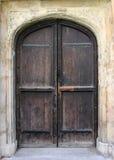 främre medeltida för dörr Royaltyfria Bilder