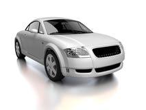 främre modern siktswhite för bil Arkivfoto