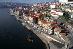 främre oporto portugal flod Fotografering för Bildbyråer