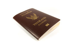 Främre räkning av det thai passet på vit backgrond royaltyfri fotografi