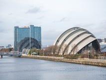 Främre sikt av Clyde Auditorium, Glasgow Royaltyfria Foton