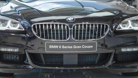 Främre sikt av den nya lyxiga BMW storslagna kupén 6 serie Royaltyfria Foton