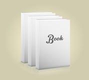 Främre sikt av den tomma boken Royaltyfri Bild