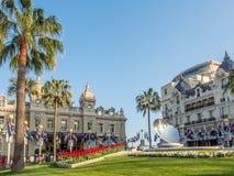 Främre sikt av kasinot de Monte - carlo, Monaco Royaltyfri Fotografi
