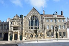 Främre sikt av konungar Lynn Guildhall royaltyfri fotografi