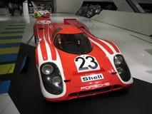 Främre sikt av Porsche 917 KH Porsche museum Royaltyfria Foton