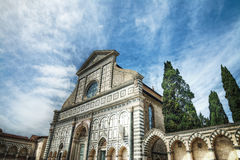 Främre sikt av Santa Maria Novella Royaltyfri Bild