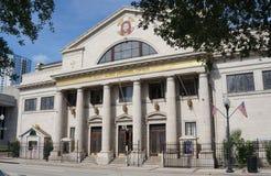 Främre sikt av St George Antiochian Orthodox Church eller Orlando Florida Arkivbild