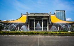 Främre sikt av Sun Yat-sen den minnes- korridoren Taipei Taiwan fotografering för bildbyråer