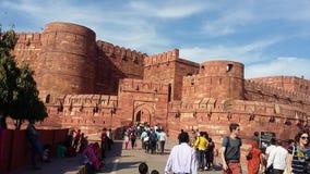 Främre sikt för Agra fort Arkivbild