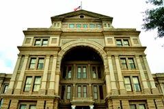 Främre sikt för Austin Captiol byggnad arkivbild