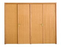 främre sikt för dörrar arkivbild