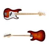 Främre sikt för elektrisk gitarr, baksida royaltyfri fotografi