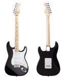 Främre sikt för elektrisk gitarr, baksida Royaltyfria Bilder