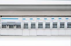 Främre sikt för elektrisk säkringsask Arkivbild