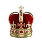främre sikt för krona royaltyfri illustrationer