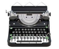 Främre sikt för skrivmaskin, tolkning 3D vektor illustrationer
