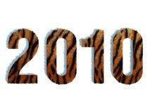 främre sikt för tiger 2010 Royaltyfria Foton