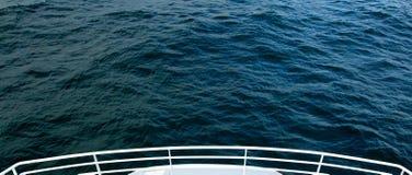 Främre sikt från kryssningskeppet Fotografering för Bildbyråer
