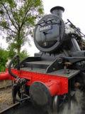 Främre slut av den återställda ångalokomotivet Arkivfoton