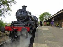 Främre slut av den återställda ångalokomotivet Royaltyfria Bilder