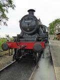 Främre slut av den återställda ångalokomotivet Arkivbild