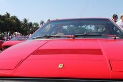 Främre slut röda Ferrari Royaltyfri Foto