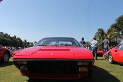 Främre slut röda Ferrari Royaltyfria Bilder