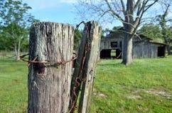 Främre staketstolpe för Louisiana ladugårdotta 03 Arkivbild