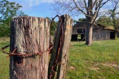 Främre staketstolpe för Louisiana ladugårdotta 02 Arkivfoto