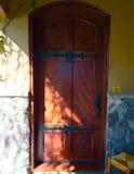 främre trä för dörr Arkivbilder