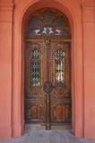 främre trä för dörr Royaltyfria Foton