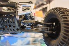 Främre upphängning samlar radio-kontrollerade modellen för modellen den plast- leksaken arkivbilder