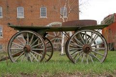främre waterwheel för 2 vagn Royaltyfria Bilder