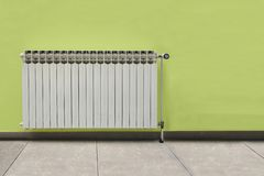 Främst grön vägg för vitt element arkivfoto