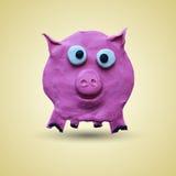 Främst sikt för rosa svin Arkivbilder