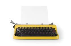 Främst sikt för tappningskrivmaskin - med den snabba banan royaltyfri foto