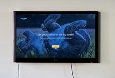 Främsta foto för amason på LG-TV Royaltyfri Fotografi