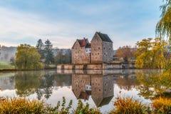 Fränkisches Wasser-Schloss Brennhausen Lizenzfreies Stockbild