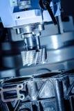 Fräsmaschine Metallverarbeitung CNC stockbild