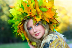 Fräulein Autumn Stockbild