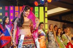 Fräulein Indien, das nationales Kostüm trägt Lizenzfreie Stockfotos