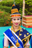 Fräulein Lao New Year 2014 Lizenzfreie Stockbilder