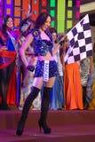 Fräulein Macau, der nationales Kostüm trägt Stockfotos
