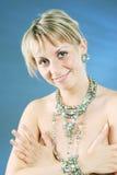 Fräulein mit den Juwelen Stockbild