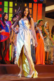 Fräulein Tanzania mit nationalem Kostüm Stockbild