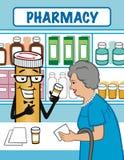 Fråga apotekaren Arkivbild