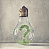 Fråga av ekologi och energi - besparing Arkivbilder