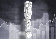 Fråga av finansiell tillväxt, tolkning 3d Royaltyfria Bilder